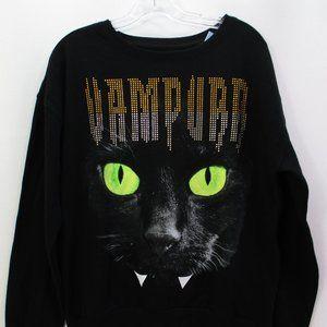 Black Halloween Sweater Large #F1-165